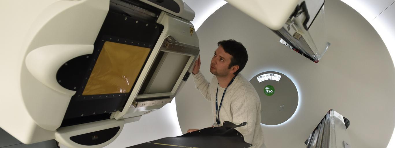 urządzenie GANTRY radioterapia protonami protonoterapia onkologia leczenie medycyna