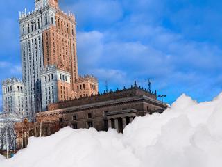 Pałac Kultury (prawie) cały na biało
