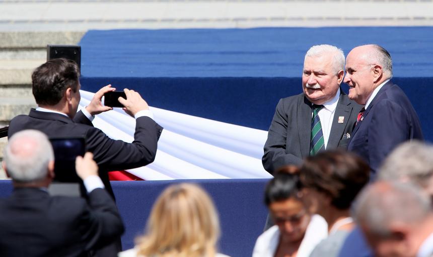 Były prezydent Lech Wałęsa i były burmistrz Nowego Jorku Rudy Giuliani.