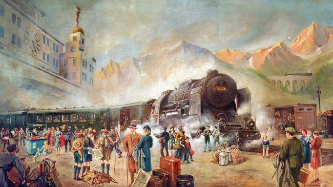 Arrival Orient-Express / Ptg. Pawlowitz