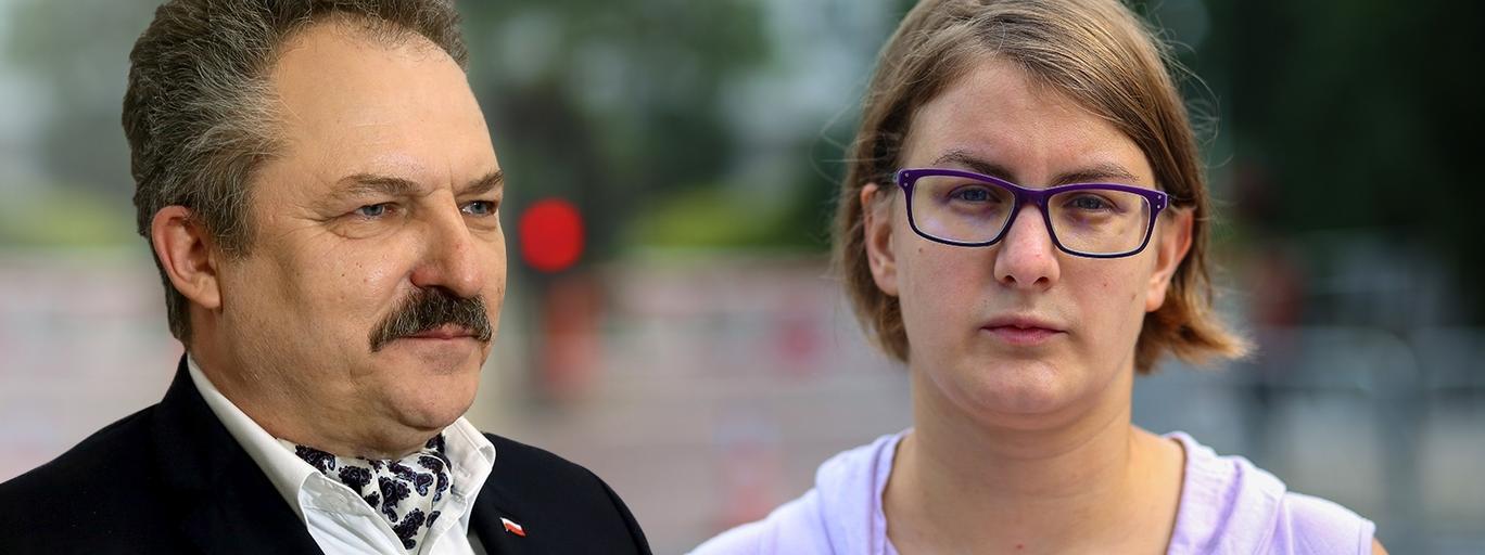 Justyna Samolińska z Razem oraz Marek Jakubiak z Kukiz'15
