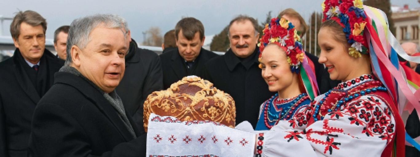 Lech Kaczyński w Hucie Pieniackiej