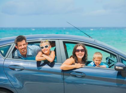 rodzina, wakacje, morze