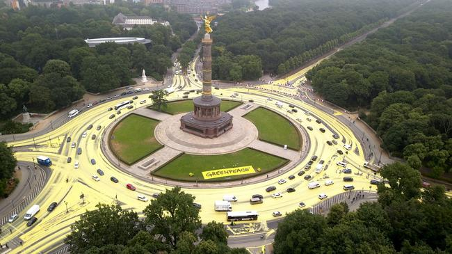 Greenpeace protest in Berlin