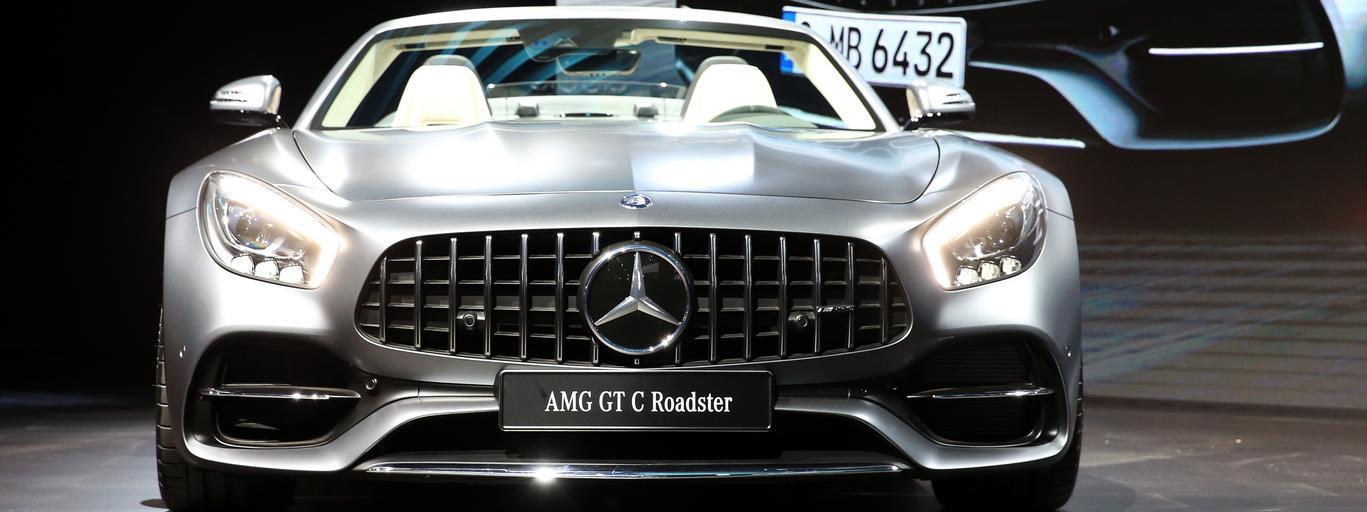 Mercedes AMG GT C Roadster motoryzacja samochody auta