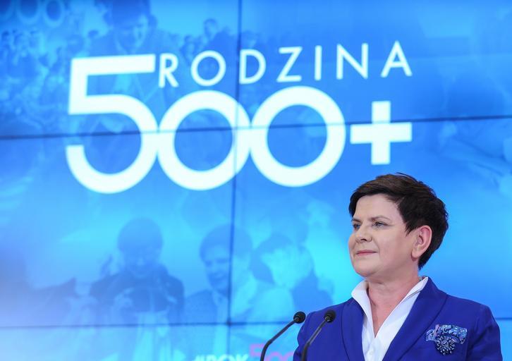 Beata Szydło polityka Prawo i Sprawiedliwość PiS Rodzina 500 plus 500+