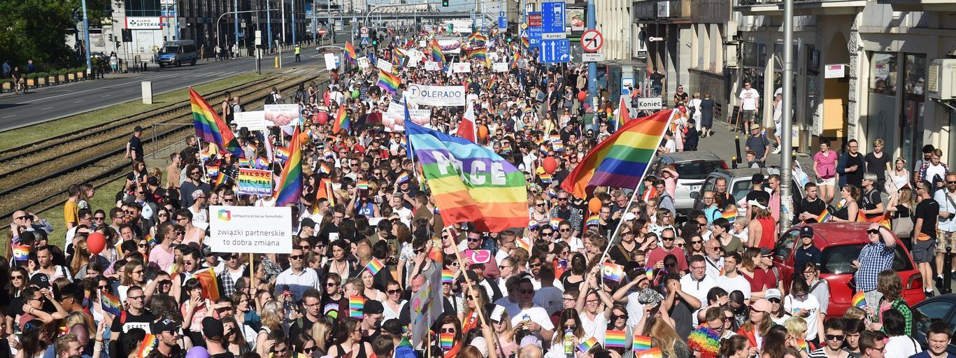 Parada Równości LGBT Warszawa geje lesbijki homoseksualizm