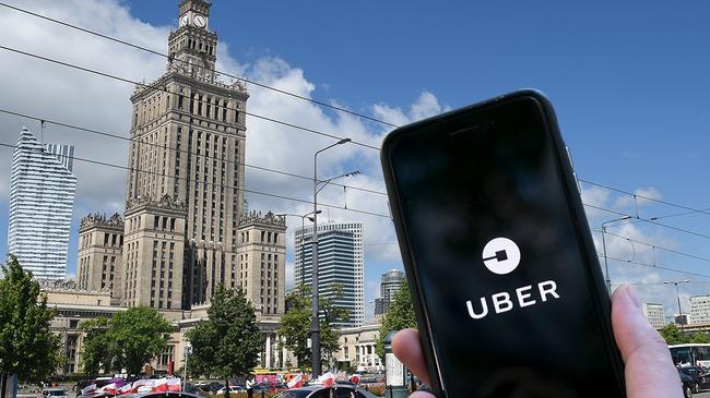 uber Warszawa Polska aplikacja taksówka