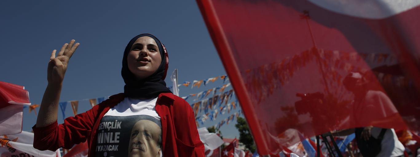Turkey's President Recep Tayyip Erdogan Campaign Rally Ahead Of Election