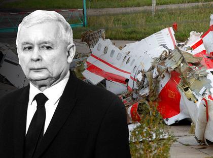 Jarosław Kaczyński i Smoleński wrak