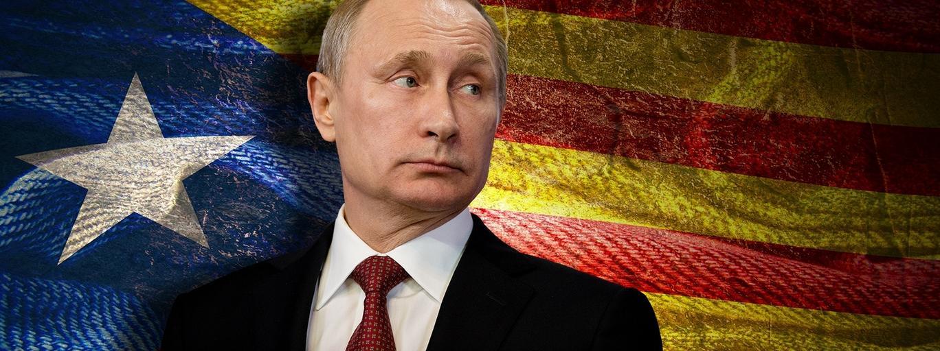 Władimir Putin, flaga Katalonii