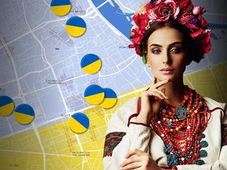 Jedyna taka ukraińska mapa Warszawy. Ulubione knajpy, miejsca spotkań, randek