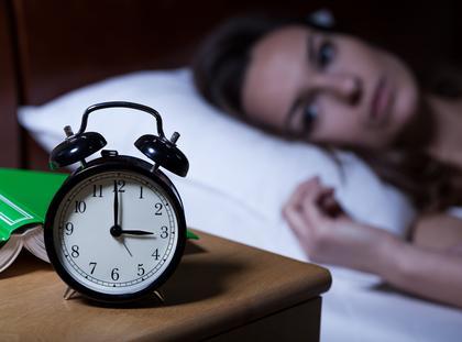bezsenność, zegarek, budzik