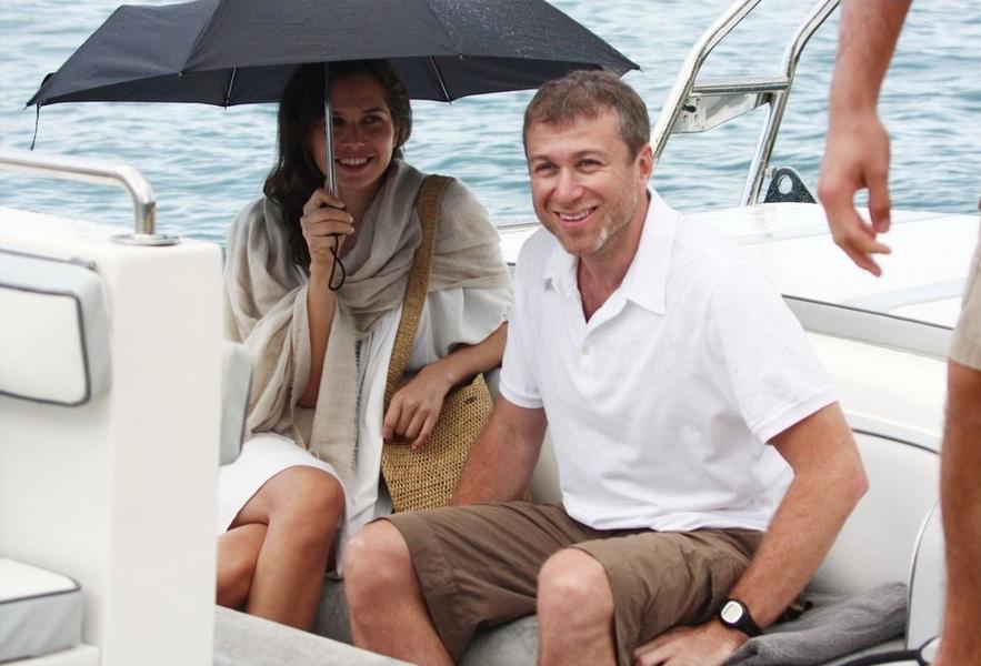 Roman Abramowicz z żoną