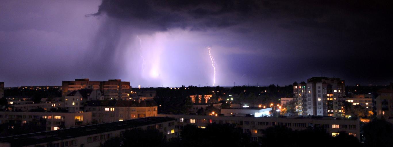Burza nawałnica prognoza pogody pogoda deszcz