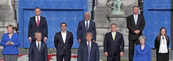 Szczyt NATO Bruksela Donald Trump Andrzej Duda