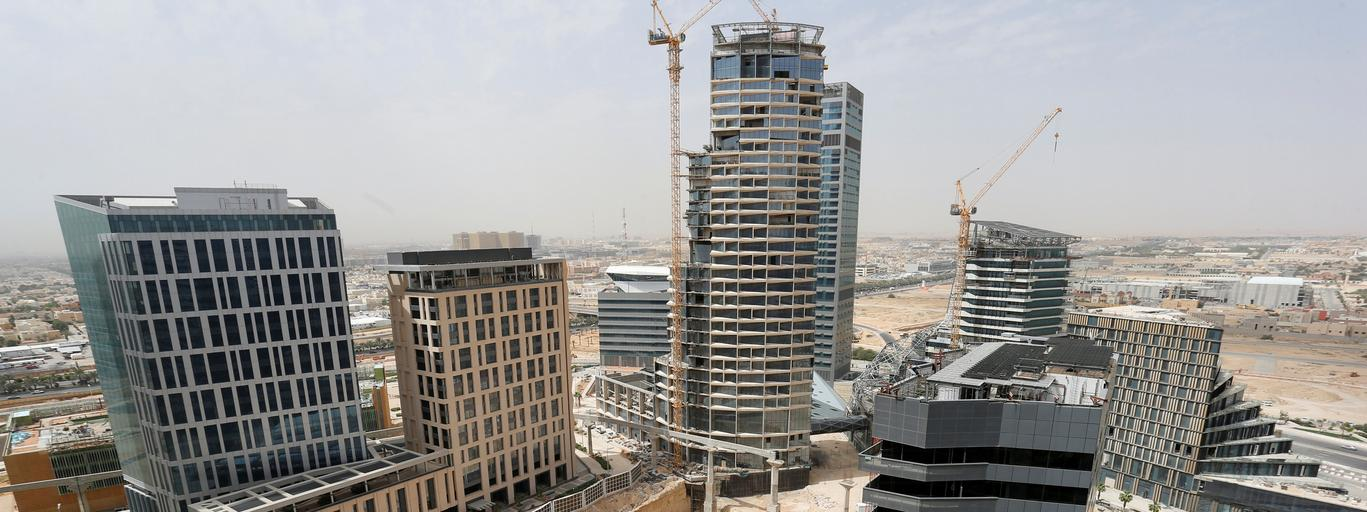 FILE PHOTO: A view shows the King Abdullah Financial District north of Riyadh