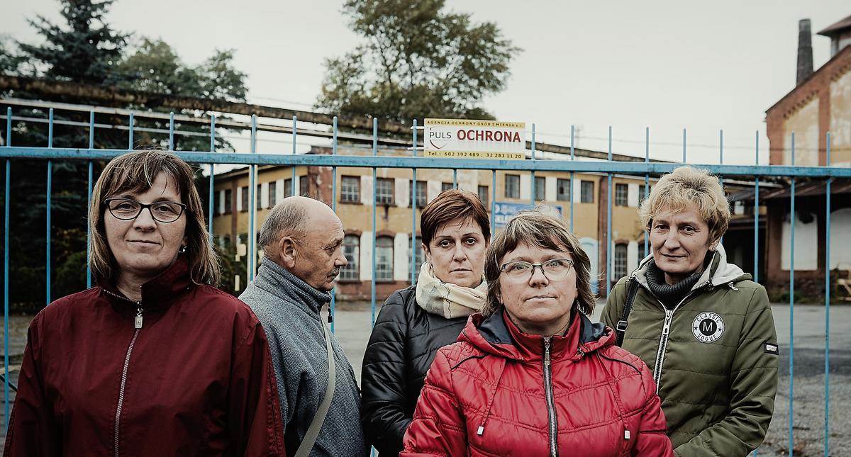 Pracownicy Huty Szkła w Zawierciu