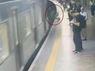 Zepchnął kobietę pod nadjeżdżające metro