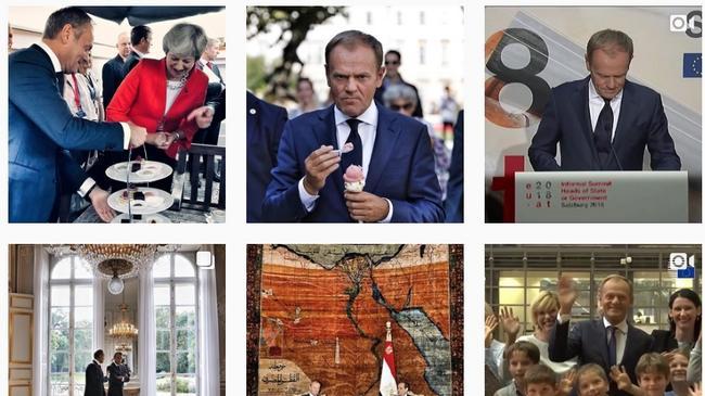 Instagram Donalda Tuska