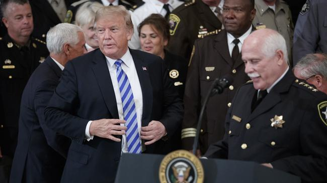 US President Donald J. Trump meets with sheriffs from across the country
