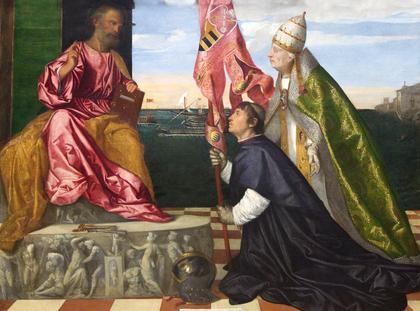 Papież Aleksander VI na obrazie Tycjana