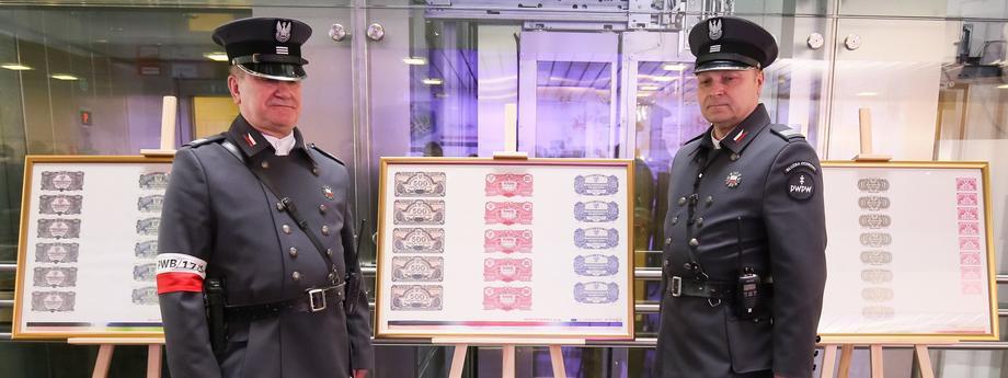 arkusze banknotowe, pwpw, mundury, ale stare jeszcze