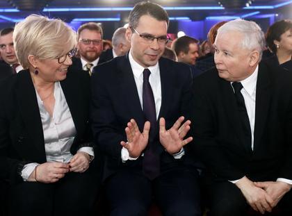 Julia Przyłębska, Jarosław Kaczyński, Michał Karnowski