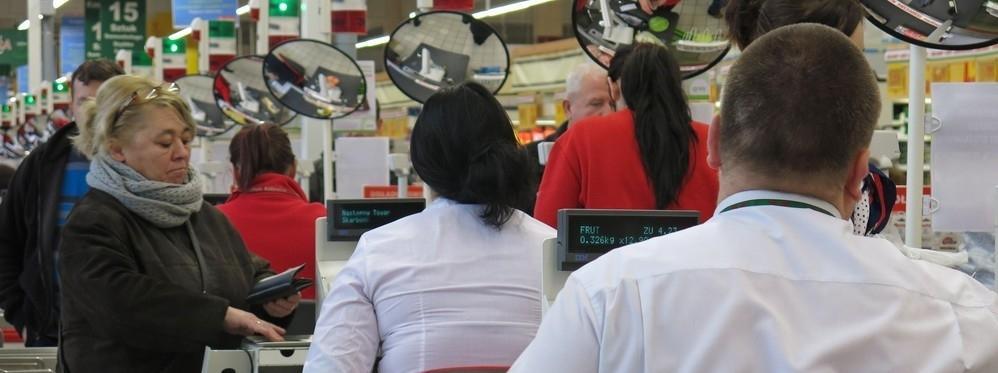 sklep kasy kasa Auchan
