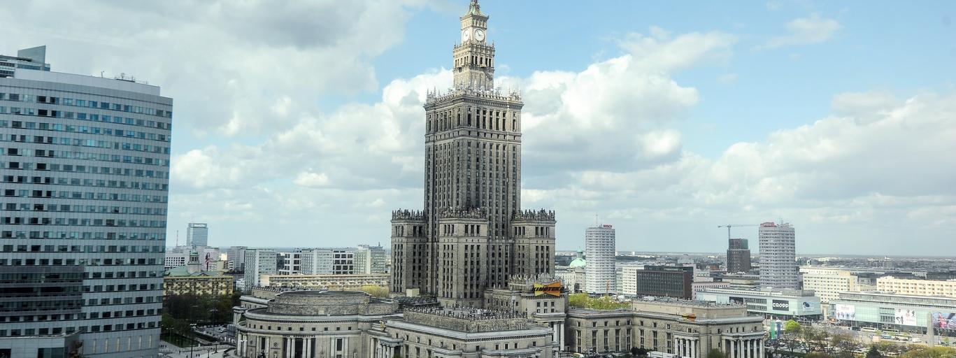 Warszawa pałac kultury Działka po przedwojennej kamienicy