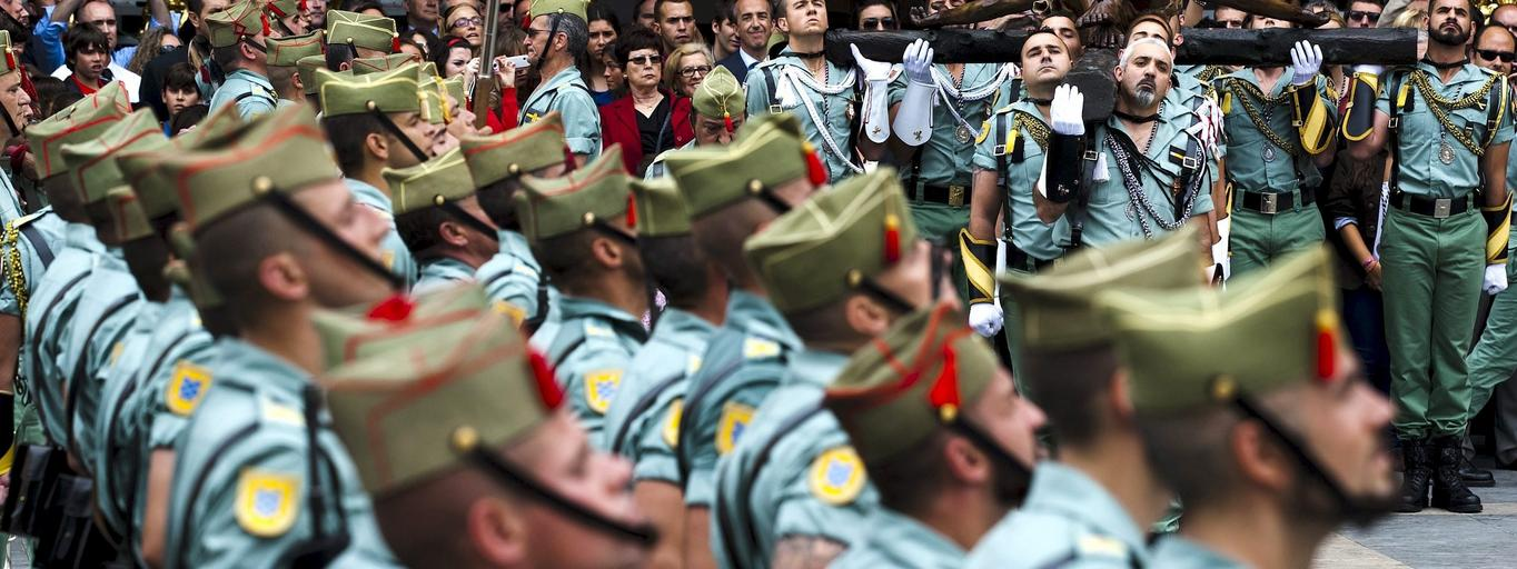 Antonio Banderas attend at Holy Week procession in Malaga