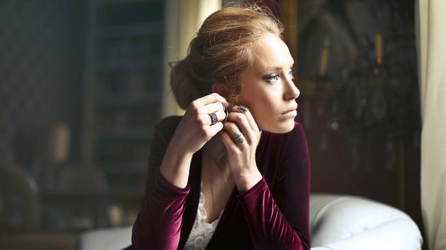 kolczyki, kobieta, biżuteria, elegancja