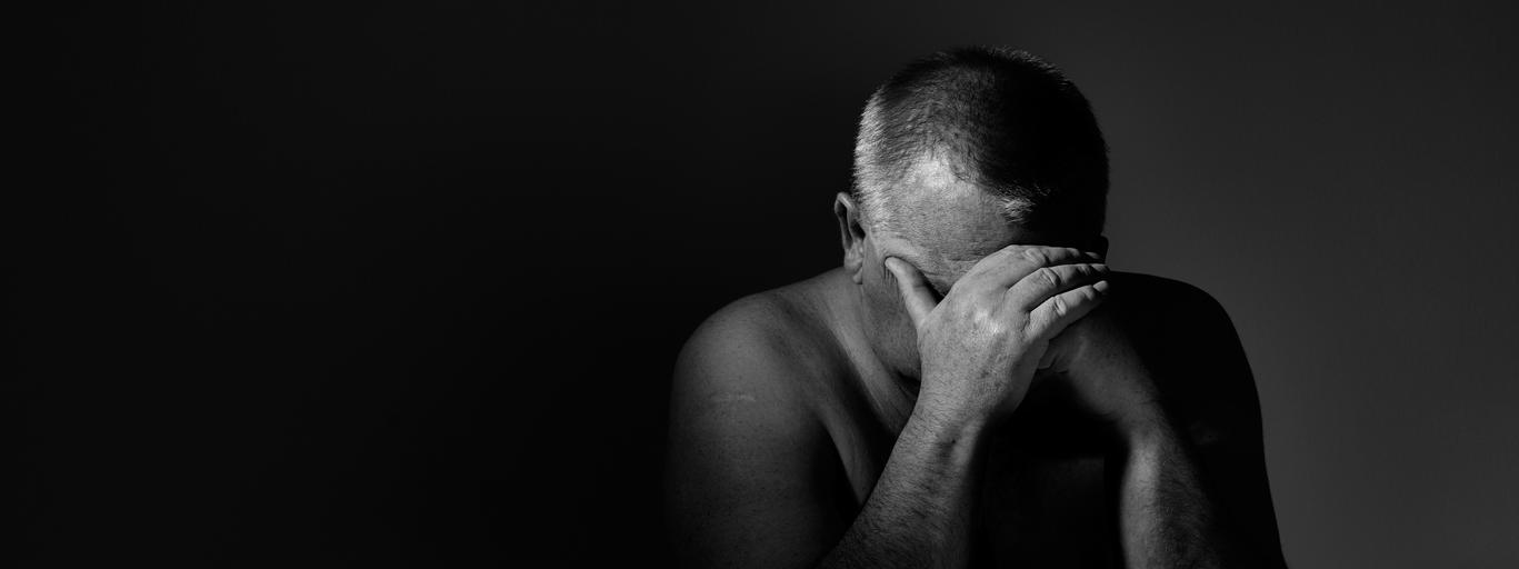 kryzys smutek mężczyzna