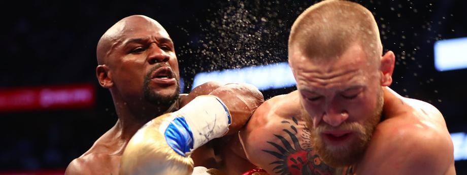 Floyd Mayweather Conor McGregor Las Vegas boks MMA sporty walki