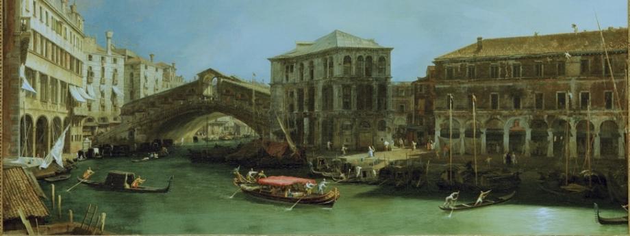 """Canaletto """"Most Rialto odpółnocy"""""""