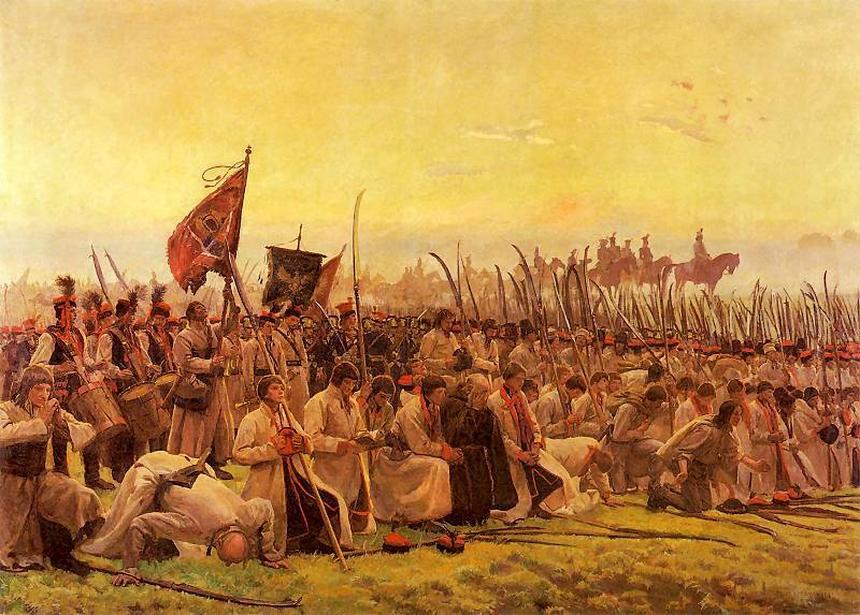 Kosynierzy na obrazie Józefa Chełmońskiego