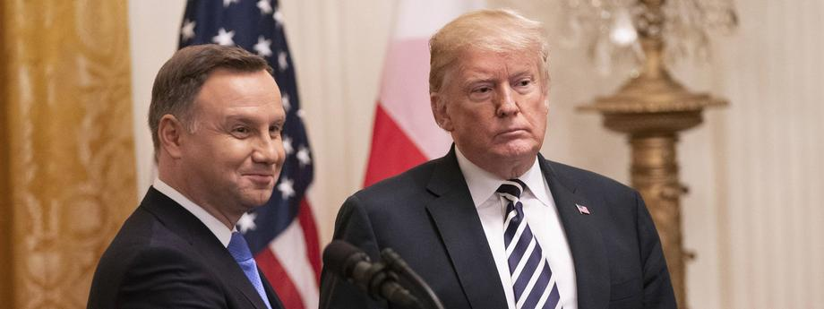 United States President Donald J. Trump and the President of the Republic of Poland Andrzej Duda hold a news conference at The White House