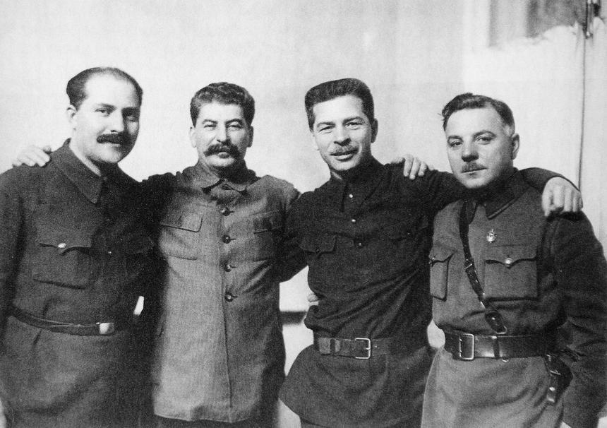 Kaganowicz, Stalin, Postyszew, Woroszyłow, 1934
