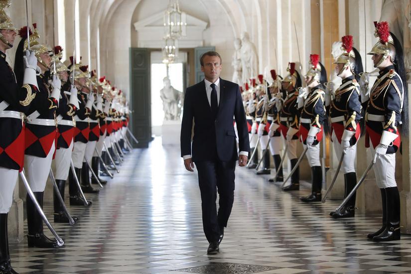 Francja prezydent Emmanuel Macron