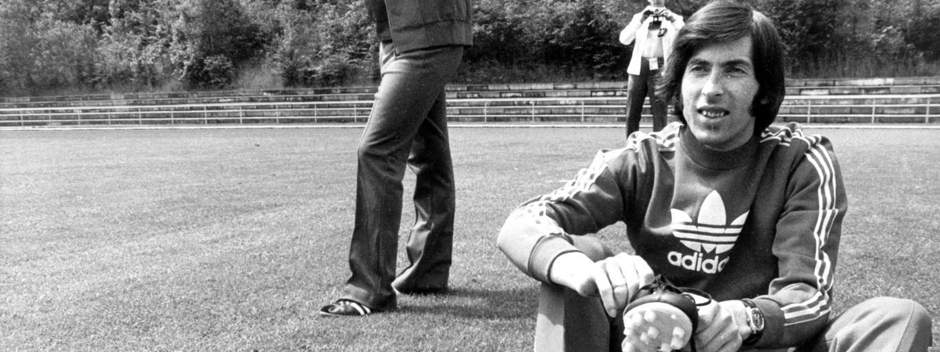Fuball-WM '74: Kazimierz Deyna im Training