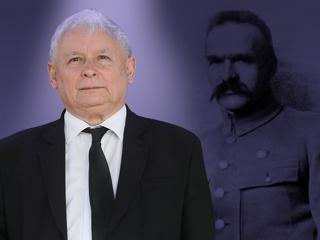"""Kaczyński ma """"dokonania większe od Piłsudskiego""""?"""
