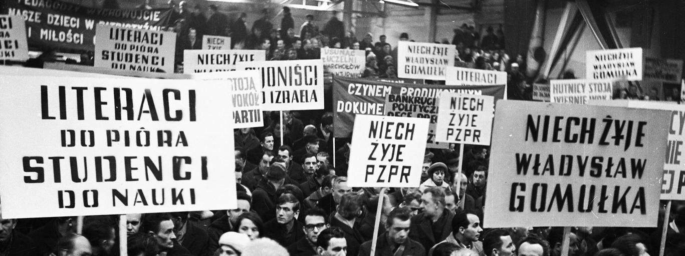 Masówka w hucie Lenina, marzec 1968