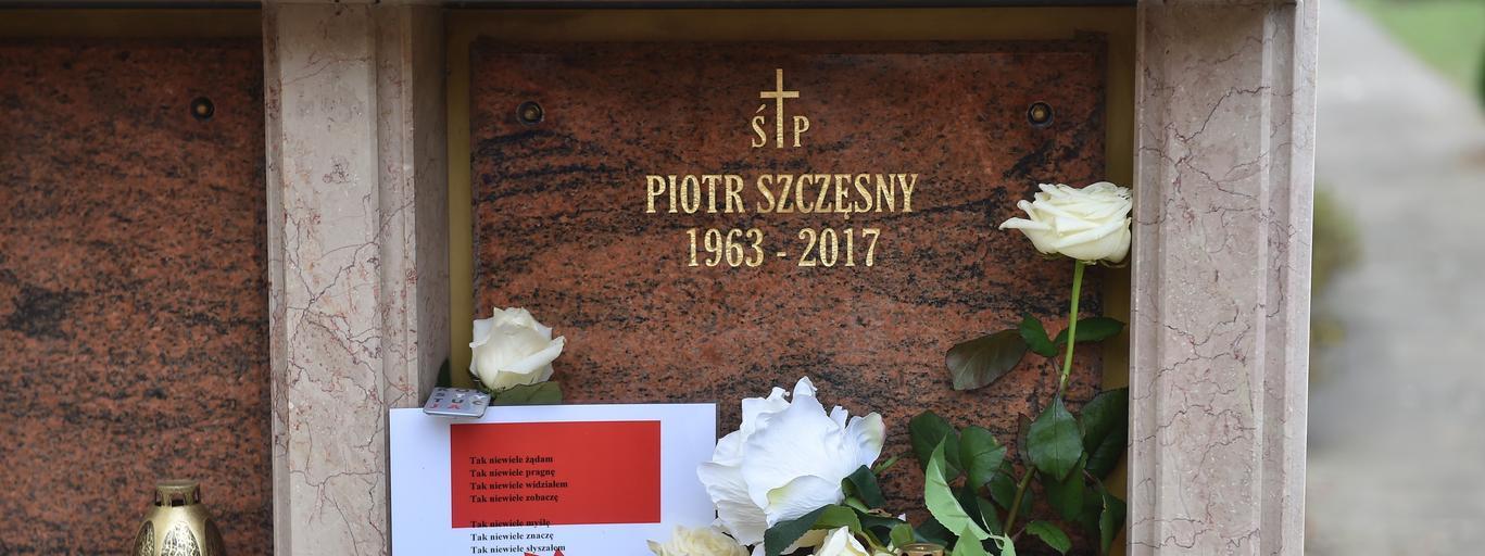 Piotr Szczęsny Szary Człowiek Cmentarz Salwatorski Kraków