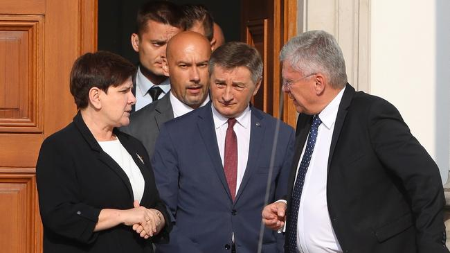 Beata Szydło, Stanisław Karczewski, Marek Kuchciński