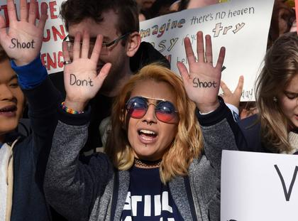 Activists, survivors and celebrities attend the first-ever March for Our Lives - DC
