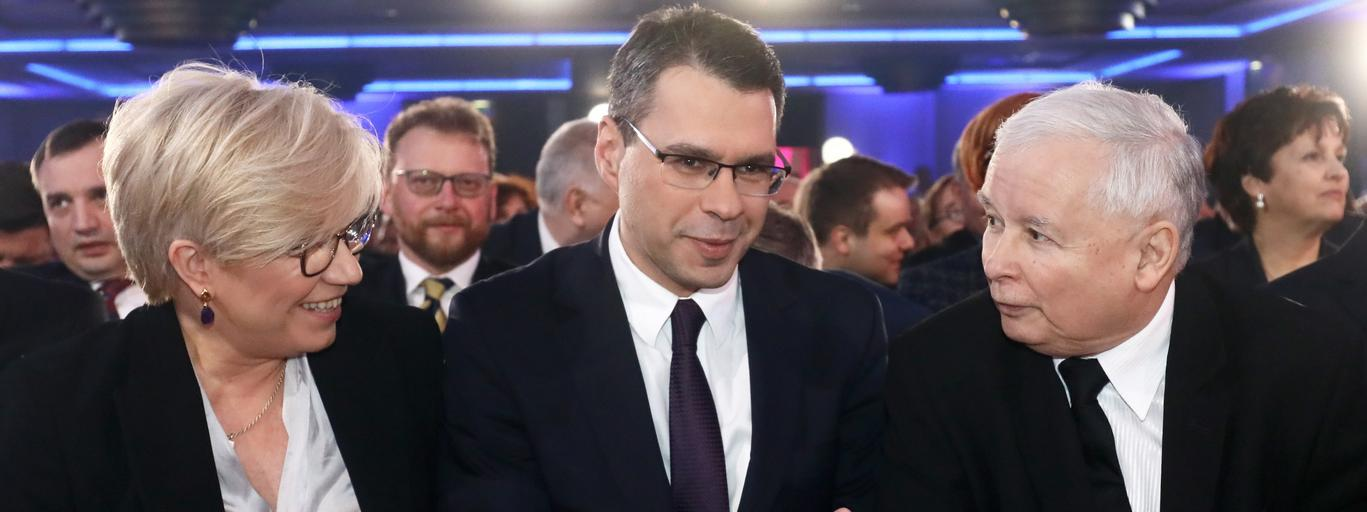 Julia Przyłębska Jarosław Kaczyński Michał Karnowski wSieci polityka PiS Prawo i Sprawiedliwość