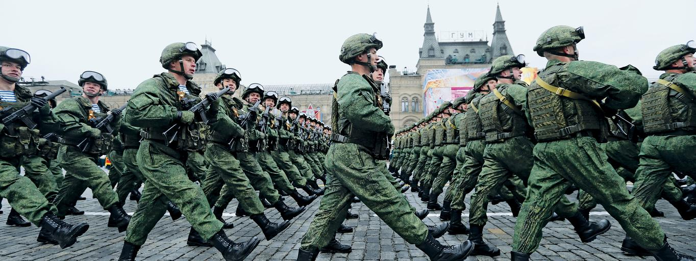 Russian army parade marking the World War II anniversary in Moscow