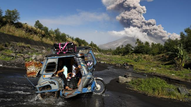 Eruption of the Mayon Volcano in Albay province