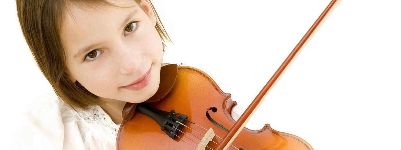 muzyka skrzypce dziecko dziewczynka