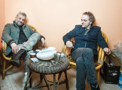 Warszawa. Marek Raczkowski i Piotr Najsztub fot. Marcin Kalinski / Newsweek